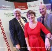 From left to right, Coun Neil Foster, Pamela Petty & Darren Race